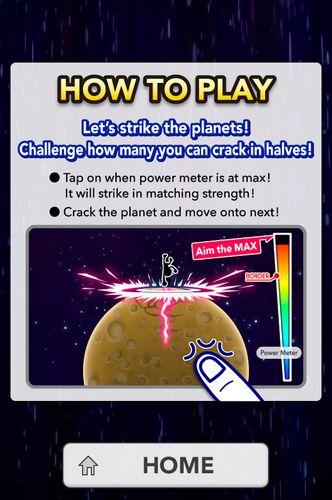 Arcade Strike the planets! für das Smartphone