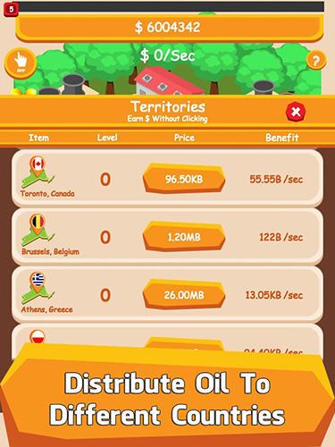 Arcade-Spiele Oil tycoon: Idle clicker game für das Smartphone