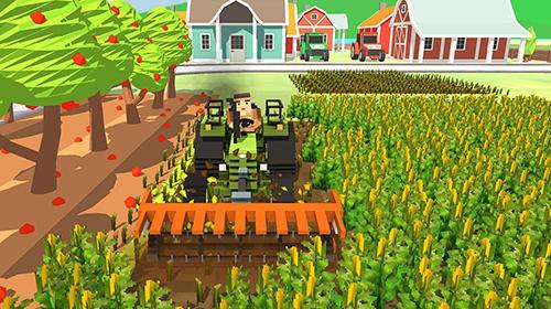 Simulation Blocky farm: Corn professional für das Smartphone