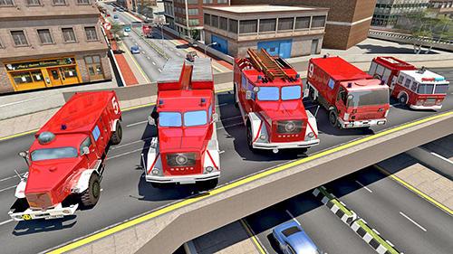 Fire truck simulator 2019 capture d'écran 1