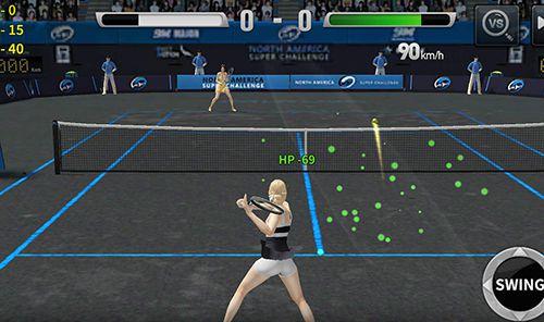 Мультиплеер игры: скачать Ultimate tennis на телефон