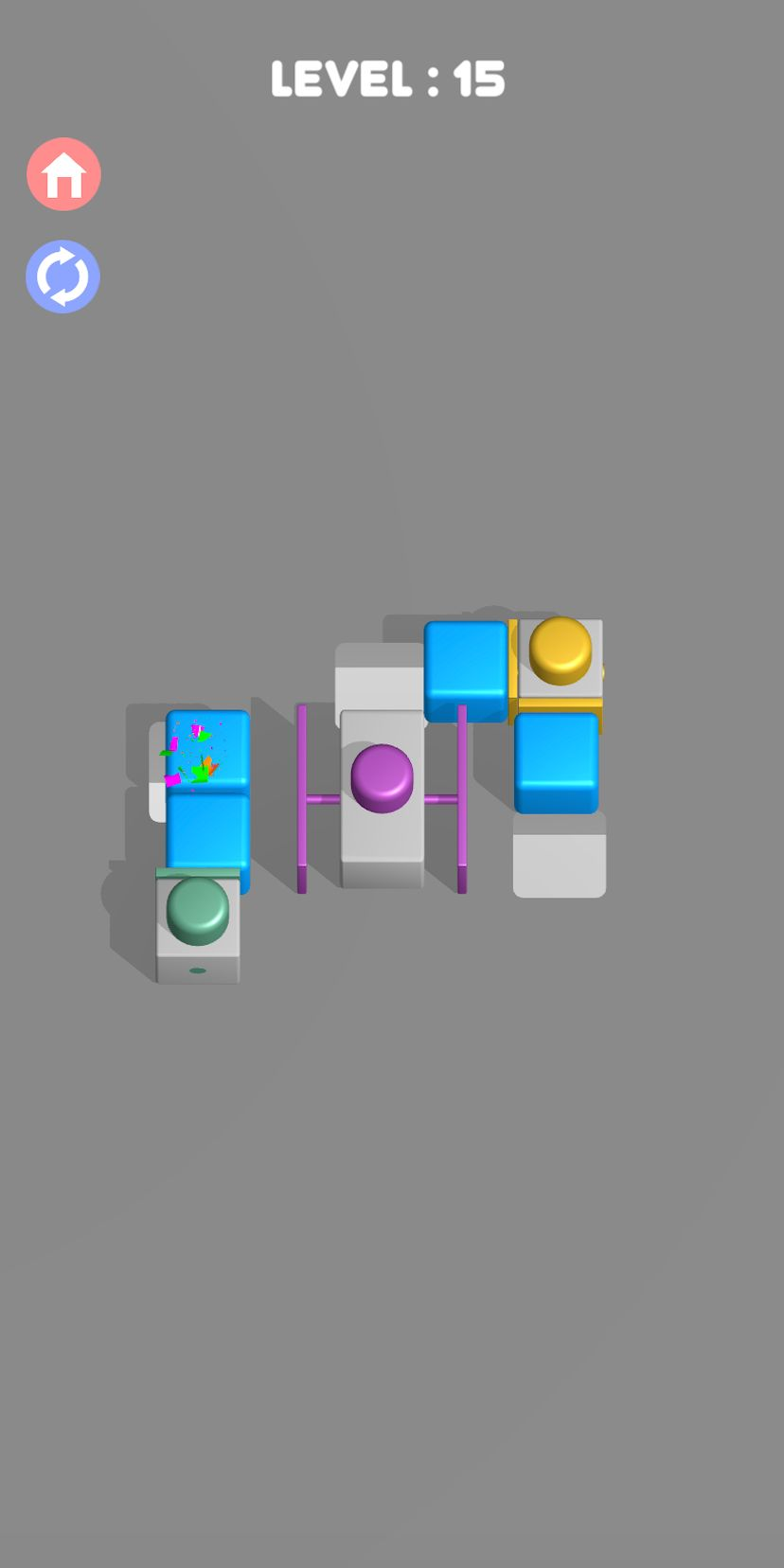 Push them all 3D - Smart block puzzle game captura de tela 1