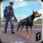 Police dog simulator 3D Symbol