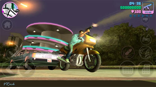 Action Grand theft auto: Vice City for smartphone