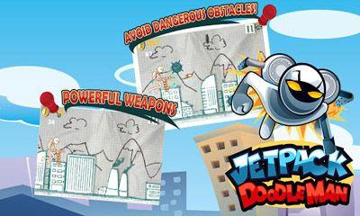 Arcade-Spiele Jetpack Doodleman für das Smartphone