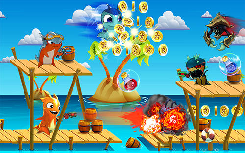 The slug of fighters. Slugs jetpack fight world screenshot 3