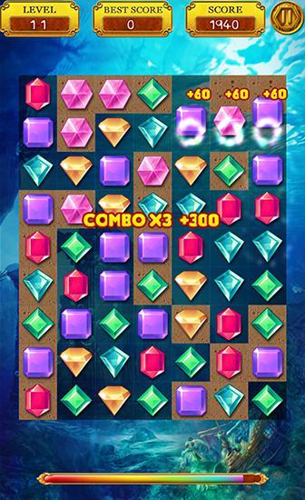 игры Три в ряд Lost jewels legend на русском языке
