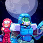 Space gunner: Retro alien invader icône