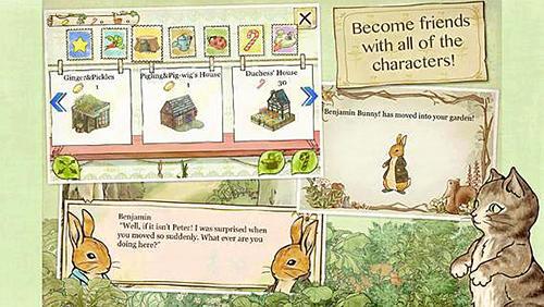 Arcade-Spiele Peter rabbit's garden für das Smartphone