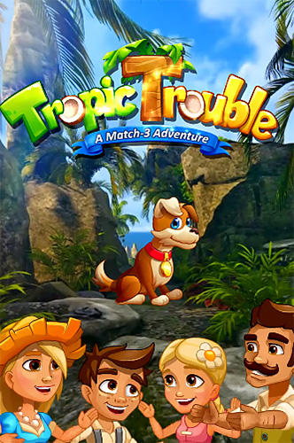 Tropic trouble: A match 3 adventure builder скріншот 1