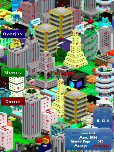 Strategy games Voxel city