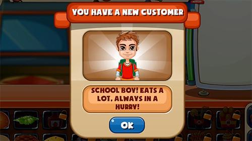 Arcade-Spiele Top burger chef: Cooking story für das Smartphone