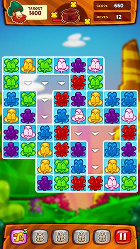 Arcade-Spiele Clover charms für das Smartphone