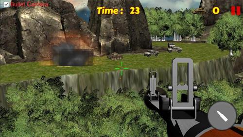 Schießstand Tank shooting: Sniper game auf Deutsch