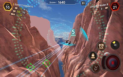 Flugsimulatoren Ace online: DuelX auf Deutsch