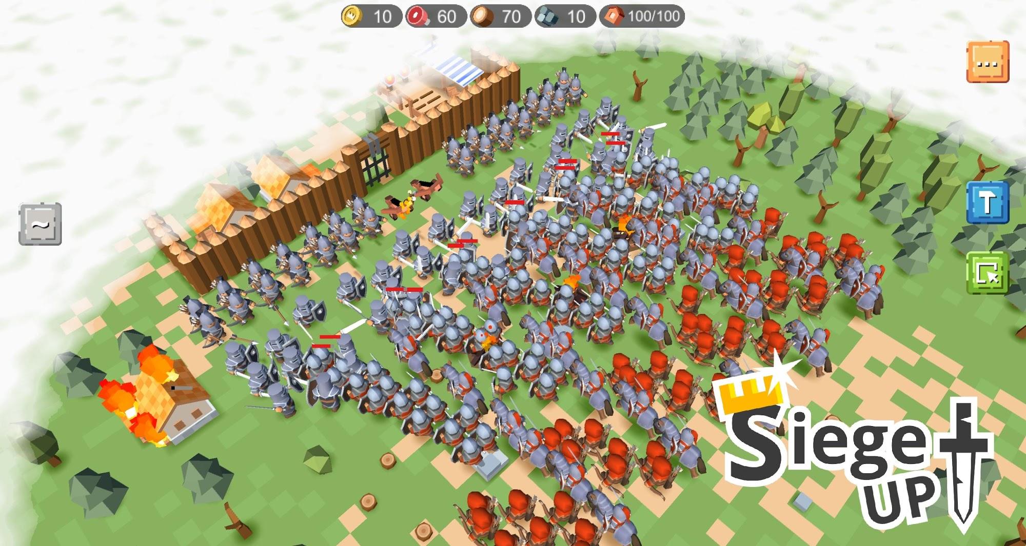 RTS Siege Up! - Medieval Warfare Strategy Offline captura de tela 1