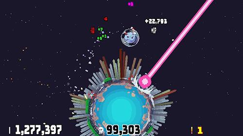 Pixelspiele Planet bash auf Deutsch