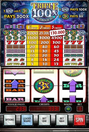 Triple diamonds 100x slots скриншот 2