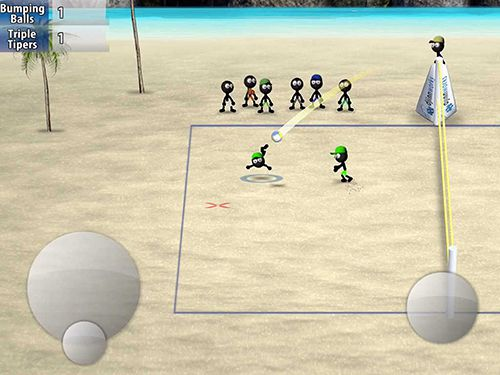 Stickman Volleyball auf Deutsch
