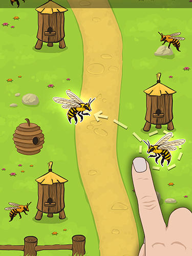 Angry bee evolution: Idle cute clicker tap game in English