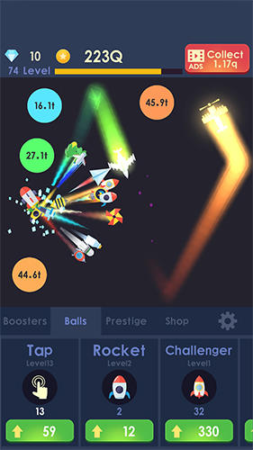 Idle rocket: Aircraft evolution and space battle für Android