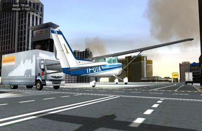 Screenshot Flugsimulator Las Vegas auf dem iPhone