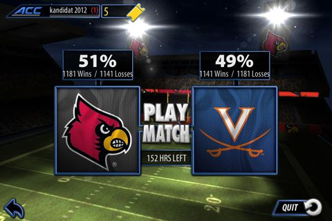ACC football challenge 2014 for iPhone