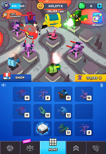 Merge tower bots Screenshot