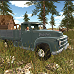 Offroad cargo pickup driver icon
