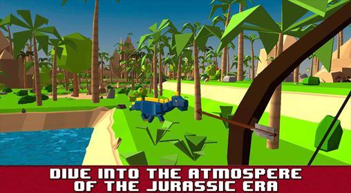 Action Jurassic island: Survival simulator for smartphone