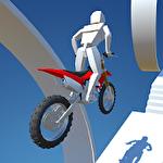 Motocross stunt trial Symbol