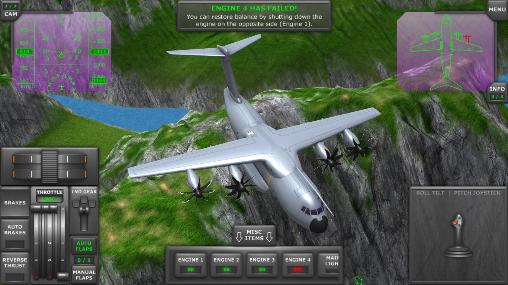 Flugsimulatoren Turboprop flight simulator 3D auf Deutsch