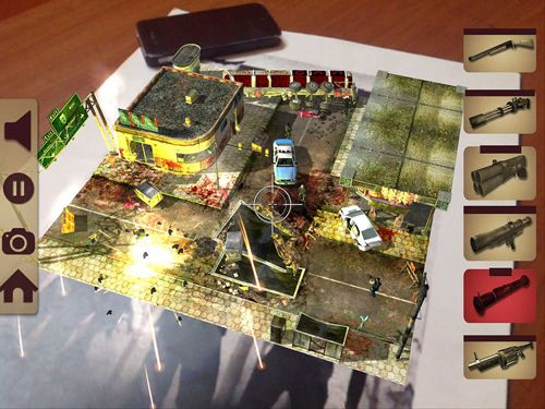 Strategy games Table zombies: Augmented reality game in English