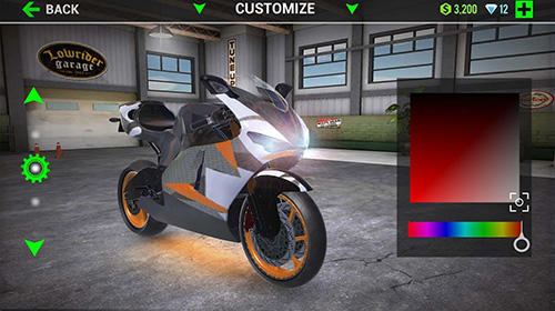 Racing Ultimate motorcycle simulator for smartphone