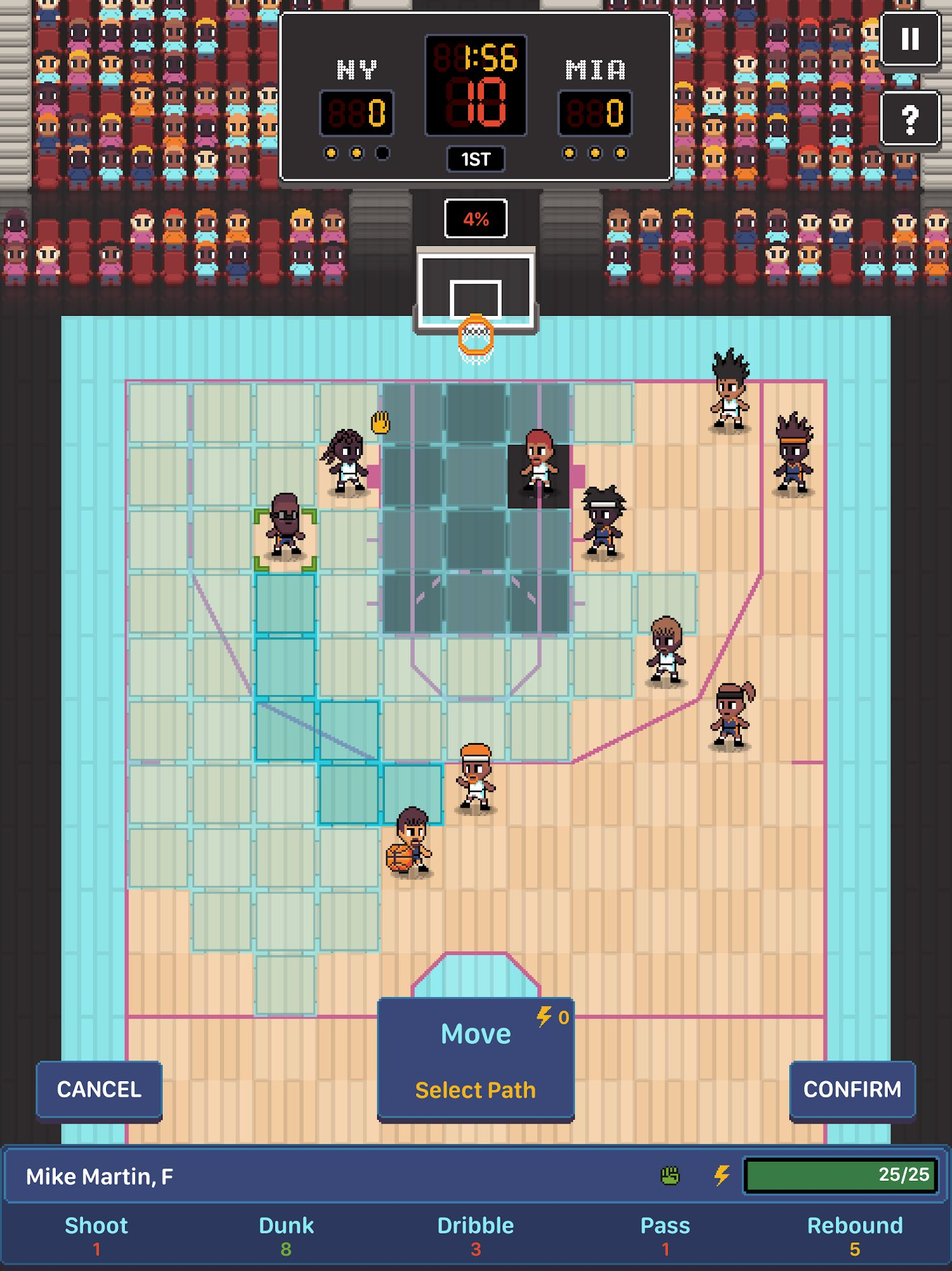 Hoop League Tactics screenshot 1