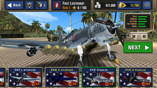 Air combat pilot: WW2 Pacific für Android