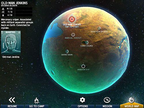 Screenshot Weltraum Marshals auf dem iPhone