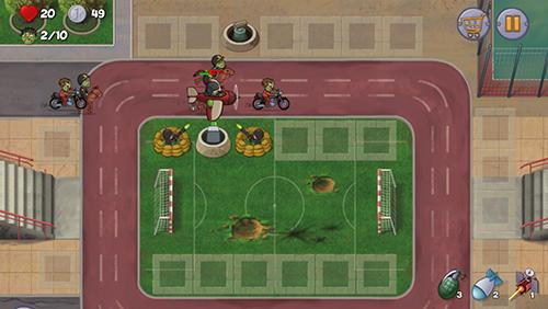 Strategie Zombie town defense für das Smartphone
