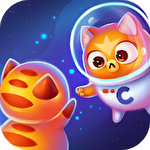 Space cat evolution: Kitty collecting in galaxy Symbol
