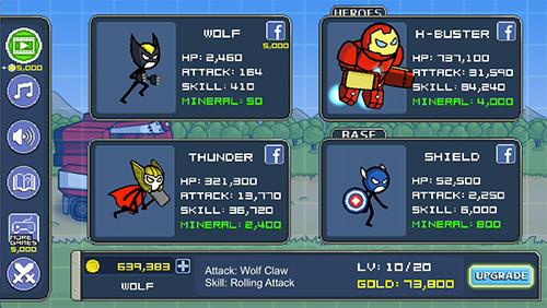 Strategiespiele Heroes wars: Super stickman defense für das Smartphone