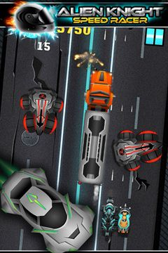 Alien vs Knight Speed Racer Pro - A Bike Race Through Clash City for iPhone