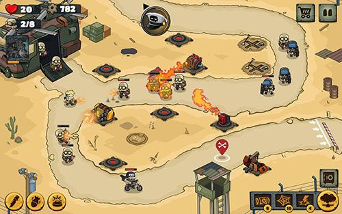 Metal soldiers TD: Tower defense screenshot 1