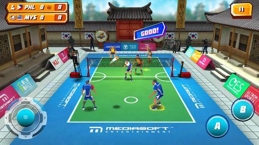 Sportspiele Roll spike: Sepak takraw für das Smartphone