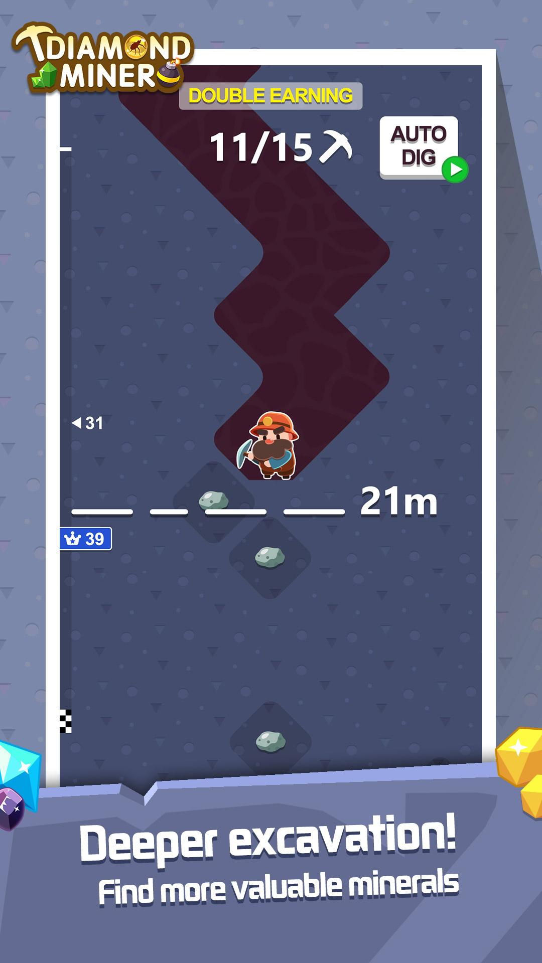 Diamond Miner: Treasure Digger!!