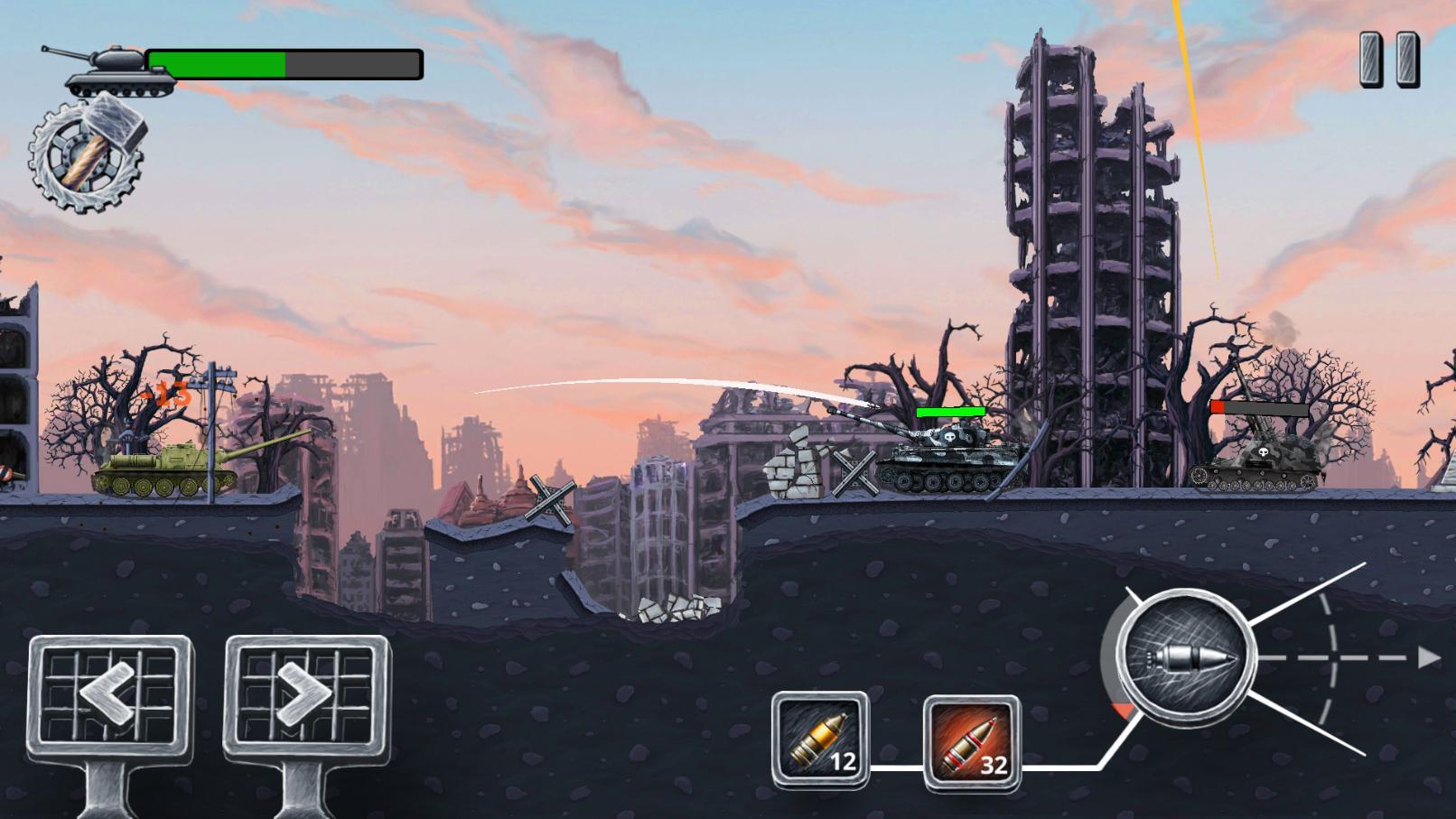 Front Line Hills: Tank Battles скриншот 1