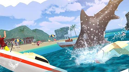 Simulator-Spiele Angry shark 2017: Simulator game für das Smartphone