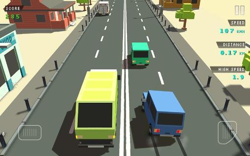 Straßenrennen Blocky traffic racer auf Deutsch
