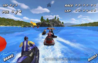 Screenshot Jetski Rennen auf dem iPhone