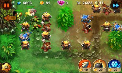 Strategie Goblin Defenders Steel'n'Wood für das Smartphone