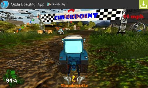 Crazy farm: Racing heroes 3D скриншот 1